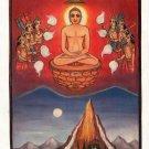 Jain Religion Miniature Painting Rare Handmade Bhaktamara Stotra Tirthankara Art