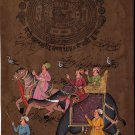 Indian Rajasthani Miniature Art Handmade Stamp Paper Ethnic Procession Painting