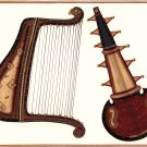Rajasthani Musical Instrument Handmade Art Indian Miniature Sarod Harp Painting