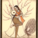 Ragini Ragamala Painting Indian Rajasthan Miniature Handmade Folk Art of Music