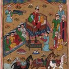 Persian Ottoman Turkish Style Miniature Painting Handmade Watercolor Paper Art