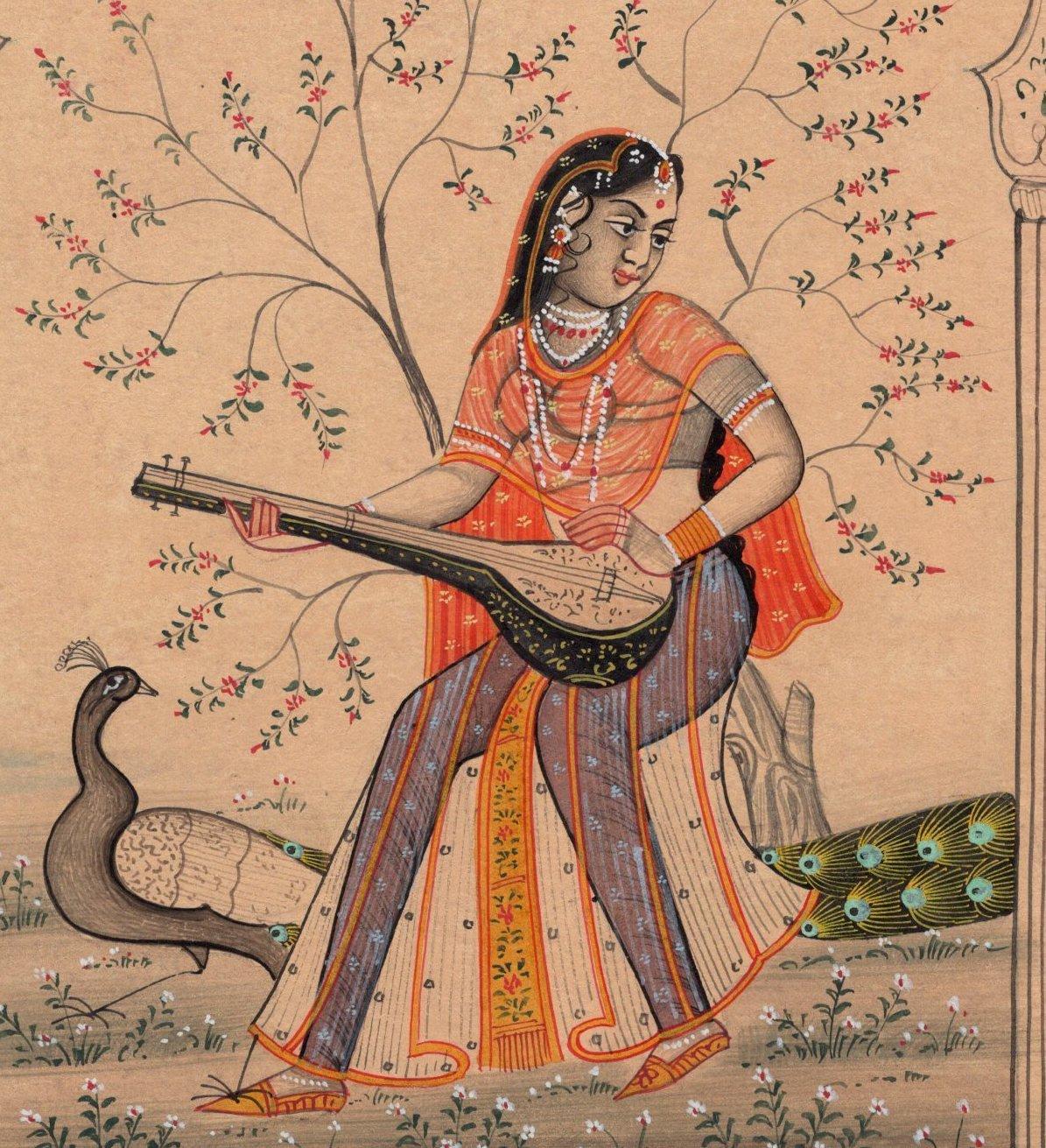 Rajasthan Ragini Ragamala Painting Indian Handmade Ethnic