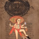 Vamana Vishnu Avatar Artwork Hindu Deity Indian Religion Spiritual Painting