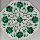 Marble Inlay Parchin Kari Art Handmade 8″ Floral Mosaic Home Decor Indian Art