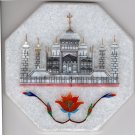 Parchin Kari Marble Inlay Indian Art Handmade 4″ Floral Taj Mahal Home Decor Art