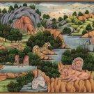 Indian Animal Jungle Miniature Painting Rare Handmade Nature Wild Life Decor Art