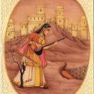 Sorathi Ragini Rajasthani Miniature Painting Indian Ethnic Handmade Ragamala Art