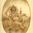 Ganesha Hindu Art Handmade Indian Miniature Religious Lord Ganesh Decor Painting