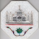 Parchin Kari Taj Mahal Marble Inlay Indian Art Handmade 4″ Floral Home Decor Art