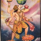 Varaha Avatar of Lord Vishnu Oil Color Art Handmade Indian Hindu Deity Painting