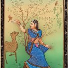 Rajasthan Miniature Ragini Ragamala Art Indian Handmade Folk Ethnic Painting