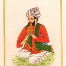 Indian Rajasthani Miniature Portrait Painting Handmade Pungi Been Musician Art