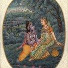 Krishna Radha Decor Art Handmade Contemporary Hindu Spiritual Miniature Painting
