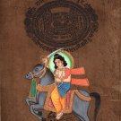 Kalki Tenth Vishnu Avatar Painting Handmade Stamp Paper Indian Hindu Deity Art