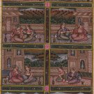 Mughal Miniature Painting Handmade Moghul Harem Art Indian Ethnic Folk Pictures