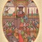 Mughal Miniature Padshahnama Painting Handmade Jahangir Khurram Mogul Empire Art