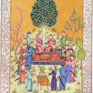 Persian Shahnama Miniature Painting Handmade Epic of Kings Qasim Firdausi Art
