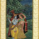 Krishna Radha Decor Folk Painting Handmade Indian Ethnic Miniature Hindu Art