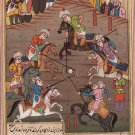 Persian Ottoman Turkish Style Handmade Miniature Painting Watercolor Paper Art