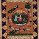 Persian Miniature Art Handmade Illuminated Manuscript Calligraphy Folk Painting