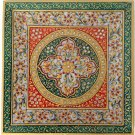 Indian Jaipur Marble Plate Floral Motif Art Handmade Rajasthani Decor Painting