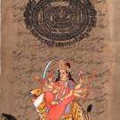 Durga Maa Hindu Goddess Art Handmade Indian Spiritual Religion Hindu Painting