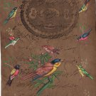 Indian Medley of Birds Miniature Painting Handmade Stamp Paper Nature Decor Art