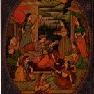 Indian Miniature Painting Handmade Antique Finish Watercolor Mughal Dynasty Art Art