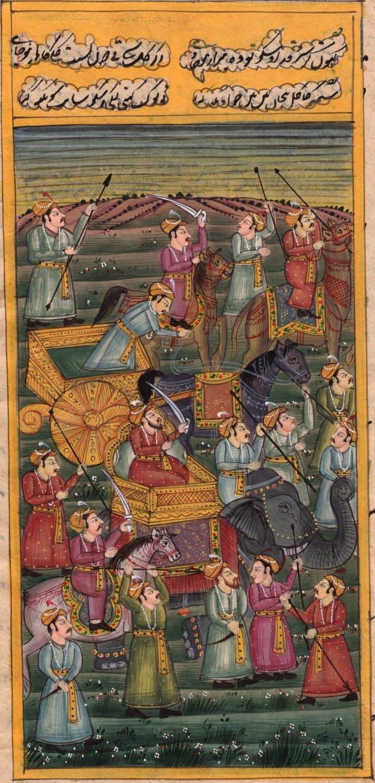 Mughal Empire Painting Handmade Illuminated Manuscript Islamic Miniature Art