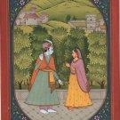 Krishna Radha Baramasa Art Handmade Classical Indian Miniature Folk Painting