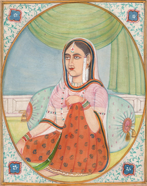 Indian Miniature Painting Rajasthan Art Handmade Ethnic Folk Craft Collectible