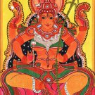 Kerala Mural Sri Rajarajeshwari Painting Handmade South Indian Hindu Goddess Art