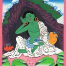 Milarepa Buddha Thangka Painting Indian Handmade Tibetan Yogi Saint Thanka Art