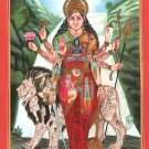 Durga Maa Shakti Painting Handmade Indian Miniature Goddess Spiritual Decor Art