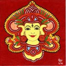 Kerala Mural Durga Painting Handmade South India Religion Ethnic Miniature Art