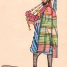 Sikh Military Soldier Painting Handmade India Miniature Sentry Portrait Folk Art