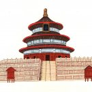 Temple of Heaven Painting Handmade Chinese Beijing Architecture Miniature Art
