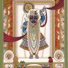 Shrinathji Krishna Pichwai Painting Handmade Hindu God Religious Miniature Art