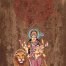 Parvati Baby Ganesha Art Handmade Spiritual Hindu Indian Goddess Decor Painting