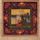 Persian Empire Illuminated Manuscript Art Handmade Islamic Miniature Painting