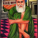 Tajuddin Muhammad Badruddin Islamic Miniature Painting Handmade Sufi Saint Art