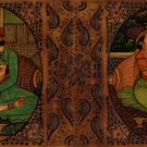 Indian Miniature Painting Handmade Mughal Empire Mogul Harem Watercolor Folk Art