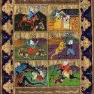 Persian Style Art Illuminated Manuscript Handmade Islamic Calligraphy Painting