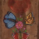 Butterfly Floral Painting Handmade Indian Miniature Nature Home Decor Charm Art