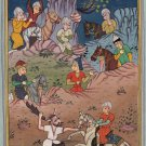 Persian Ottoman Turkish Style Painting Handmade Watercolor Paper Miniature Art