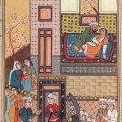 Persian Style Art Handmade Ottoman Turkish Watercolor Paper Miniature Painting