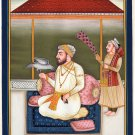 Sikh Guru Artwork Handmade Sikhism Religious Punjab Painting India Miniature Art