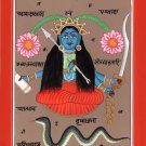 Tantric Goddess Kali Art Handmade Indian Religion Tantrik Yantra Folk Painting