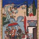 Persian Ottoman Turkish Style Handmade Painting Watercolor Paper Miniature Art