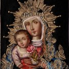 Virgin Mary Peruvian Cuzco Art Handmade Oil on Canvas Religious Christ Painting